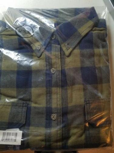 NEW WITH GEORGE BUTTON DOWN FLANNEL