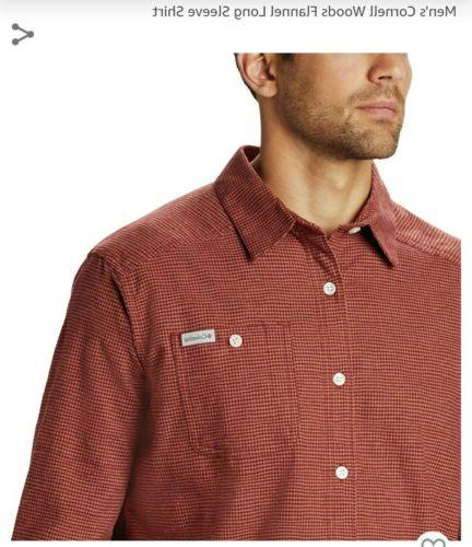 New With Columbia - Men's Flannel xl Shirt Red Jasper