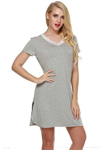 nightshirts sleep shirt lace v