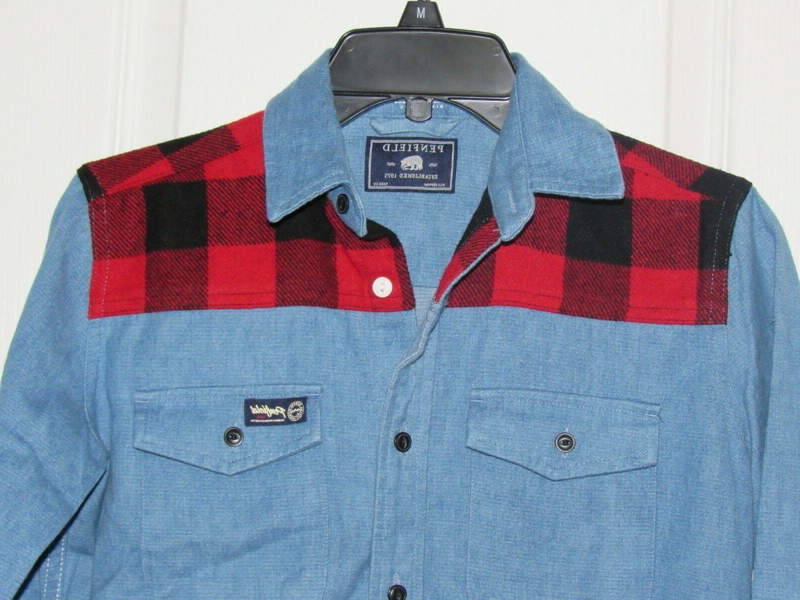 NWOT Denim/Flannel Shirt