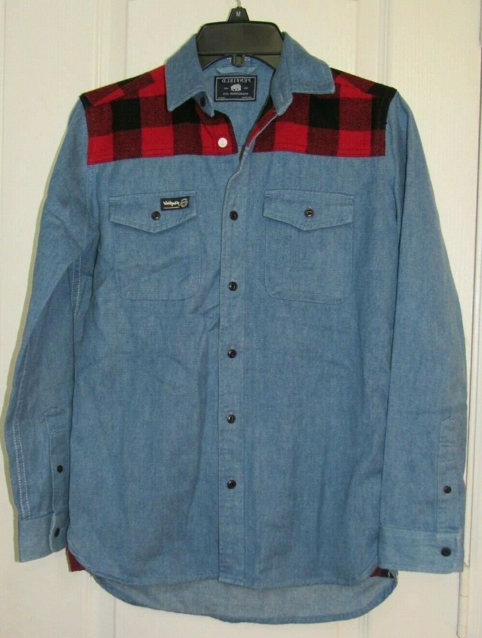 nwot denim flannel cotton shirt sz xs