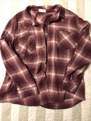 nwot flannel shirt size xxl