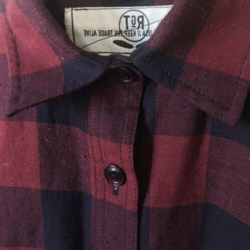 NWOT Rogue Hunter Box Check Plaid Flannel XS