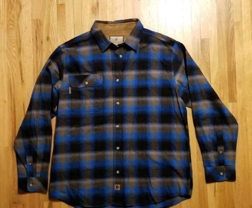 nwot mens shirt xl cotton blue flannel
