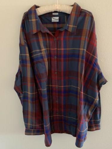 NWT 5X Columbia Ridge Sleeve Button Shirt 5xl