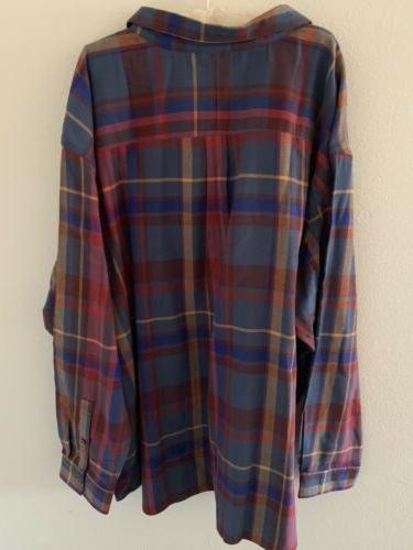 NWT Columbia Ridge Flannel Sleeve Button 5xl