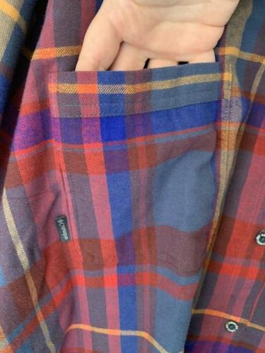 NWT Columbia Boulder Ridge Plaid Long Sleeve Button Hipster 5xl