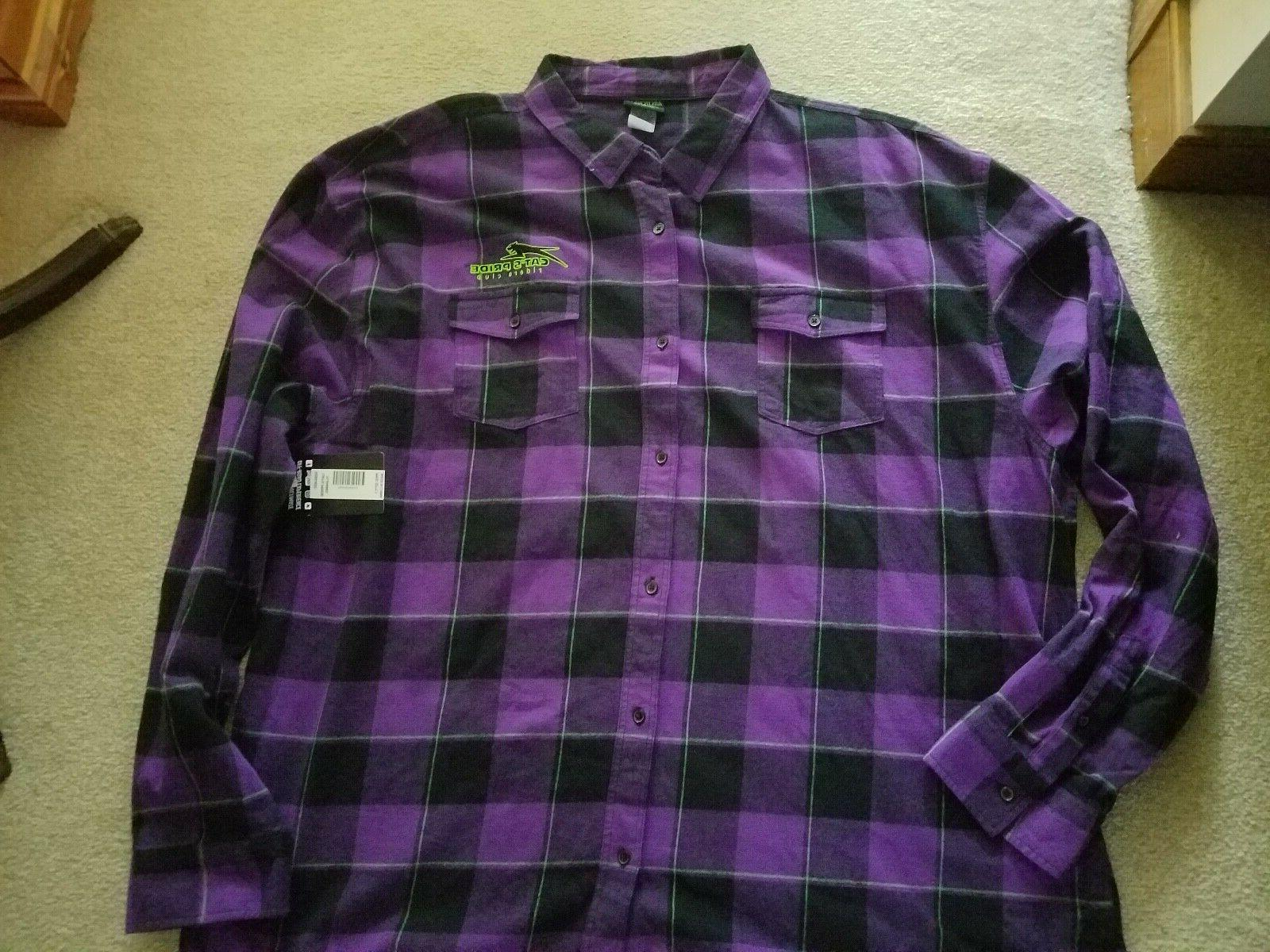 nwt arcticwear cats pride flannel 4xl purple