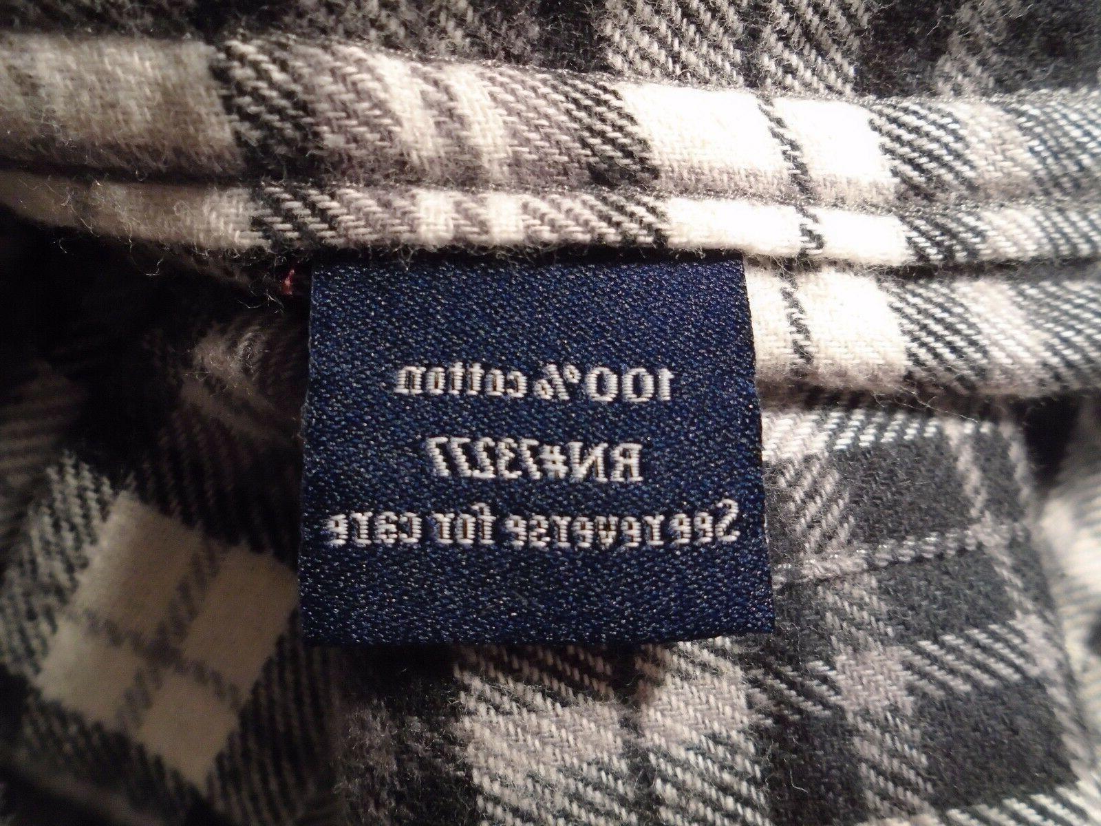 NWT Black & Plaid, Cotton Shirt, Size Small