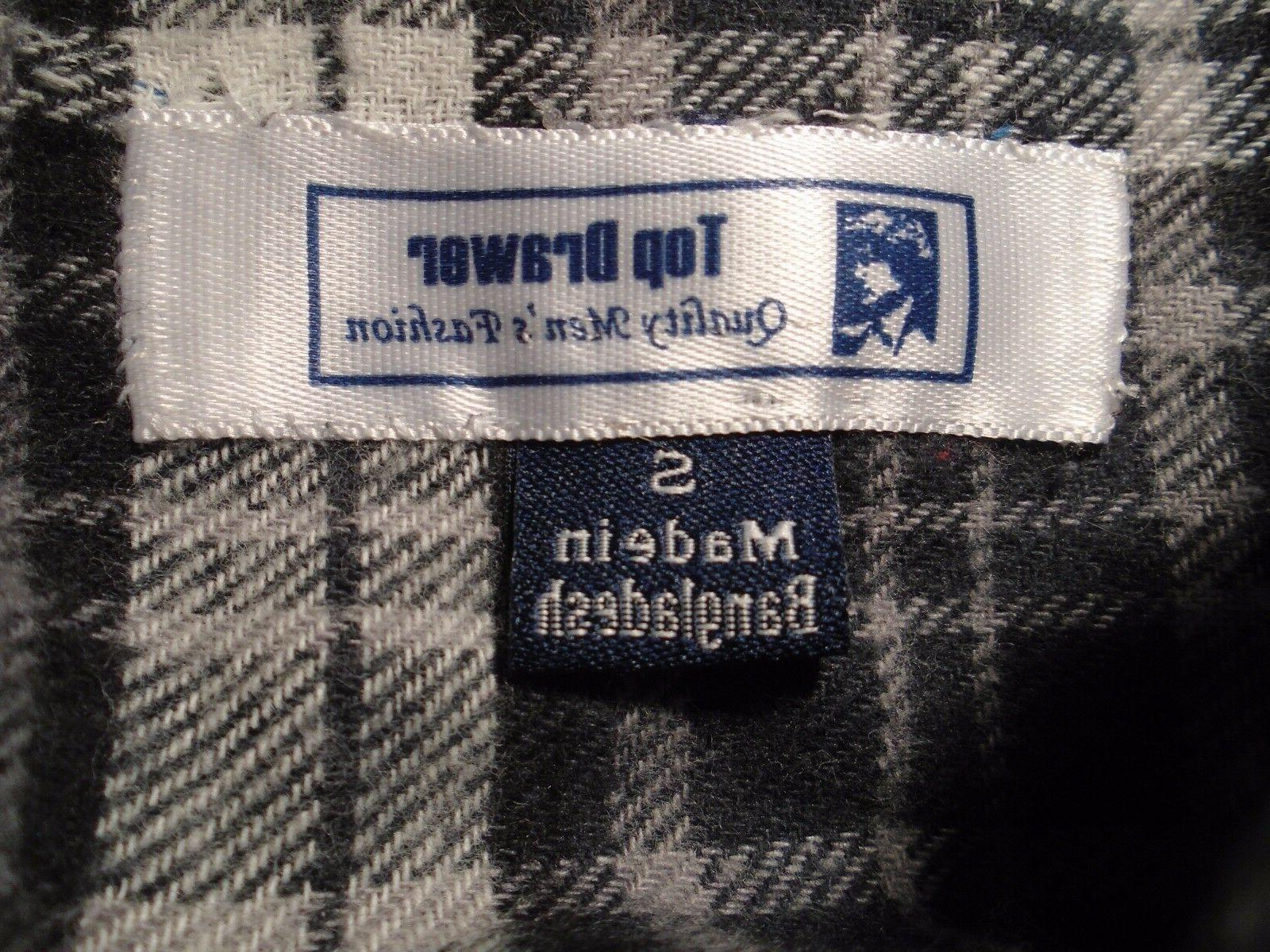 NWT Drawer, Black & Cotton Flannel Size Small