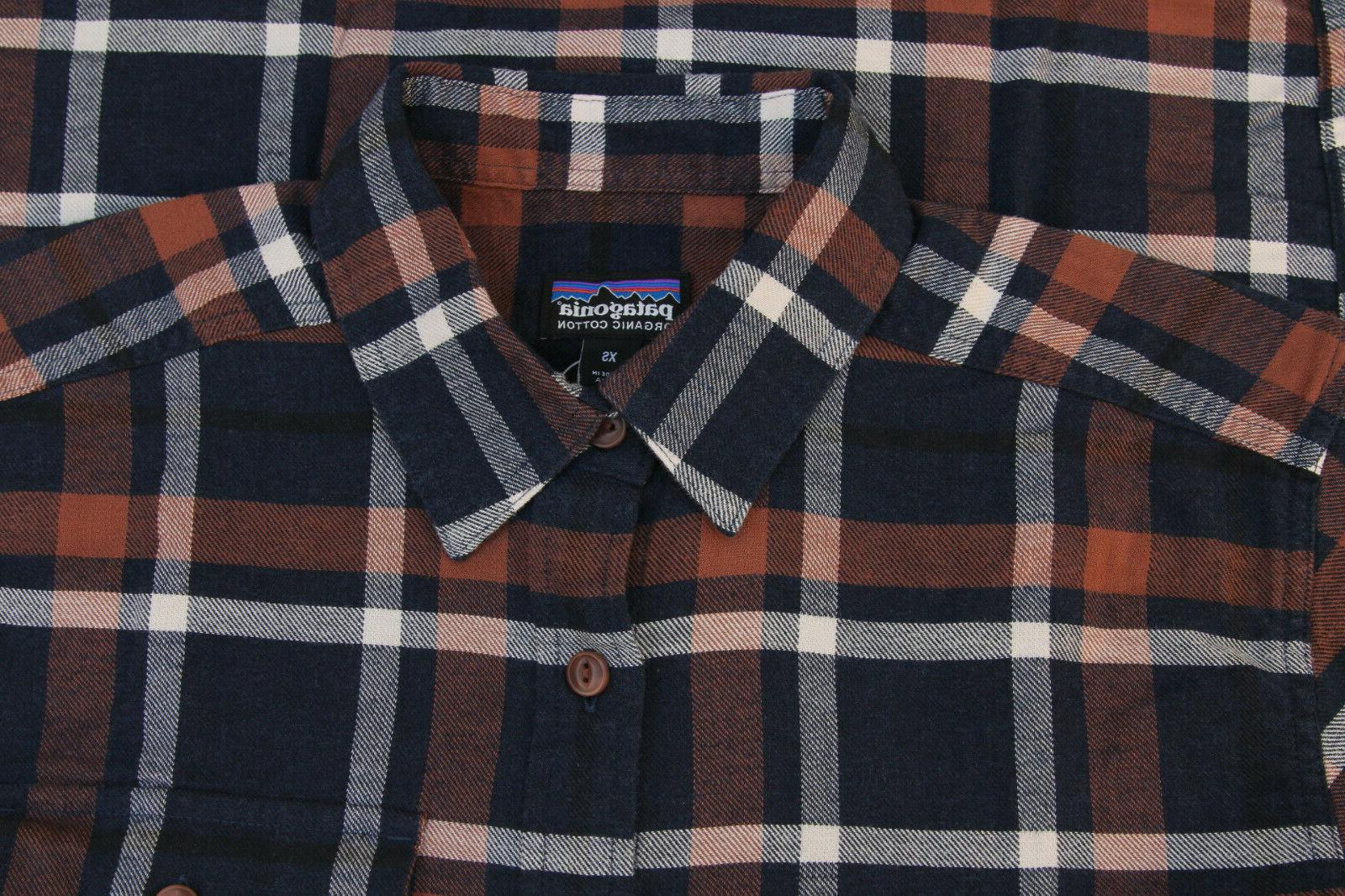 NWT Patagonia Fjord Flannel Navy Blue Small XS -