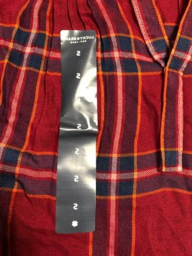 NWT Lucky Flannel Shirt Size S