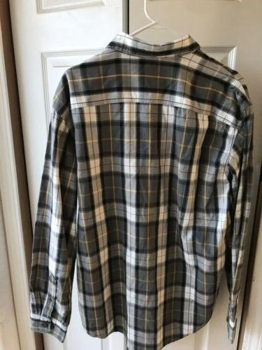 NWT G.H. Bass Co. Pewter Flannel Button $74 Size Large