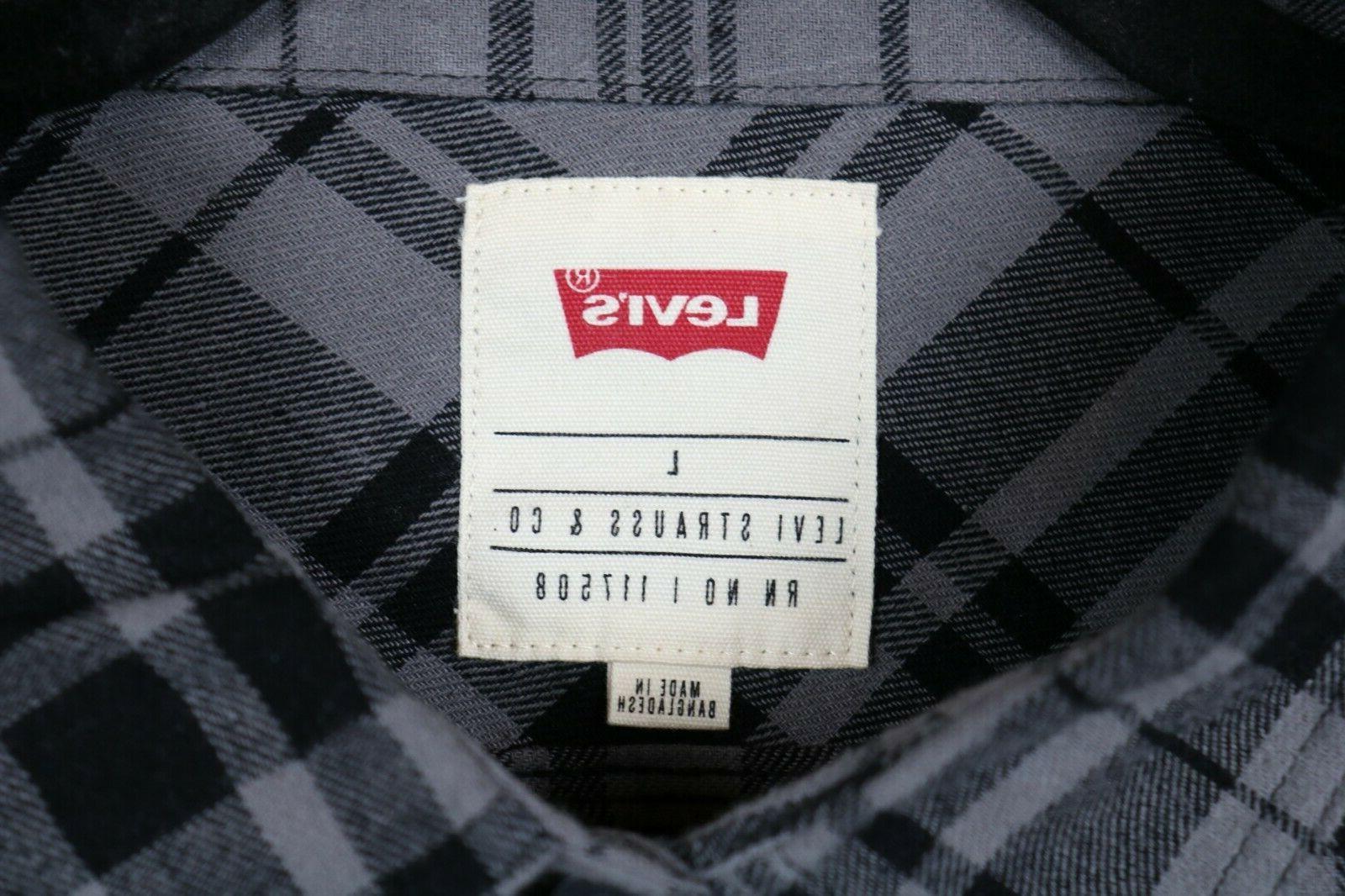 NWT Levi's Large Long Plaid Button Shirt