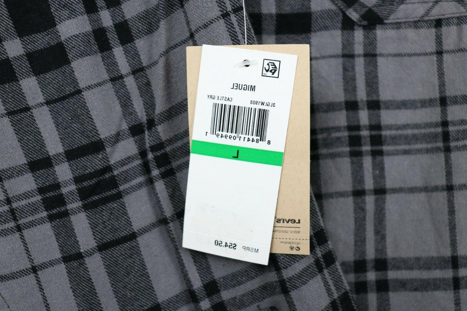 NWT Large Plaid Flannel Button Shirt