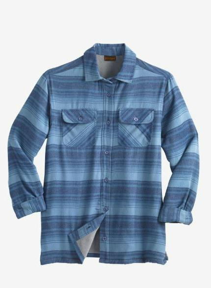 NWT PLUS Fleece-Lined Flannel Shirt Cotton MSRP
