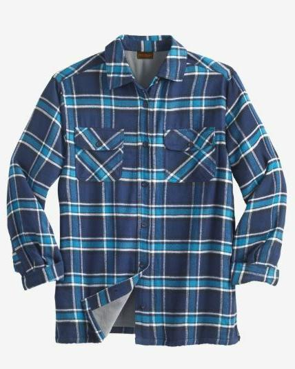 NWT MEN PLUS Fleece-Lined Shirt Cotton