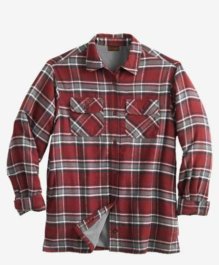 nwt men plus size fleece lined flannel