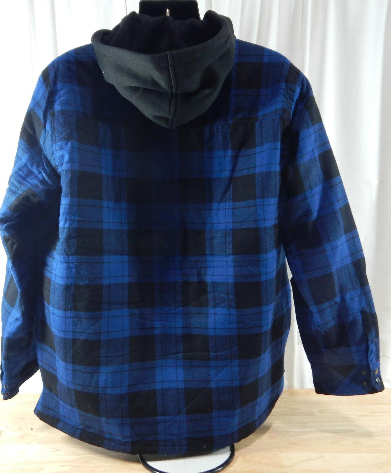 NWT Men's Traders Hooded Flannel w/Quilted