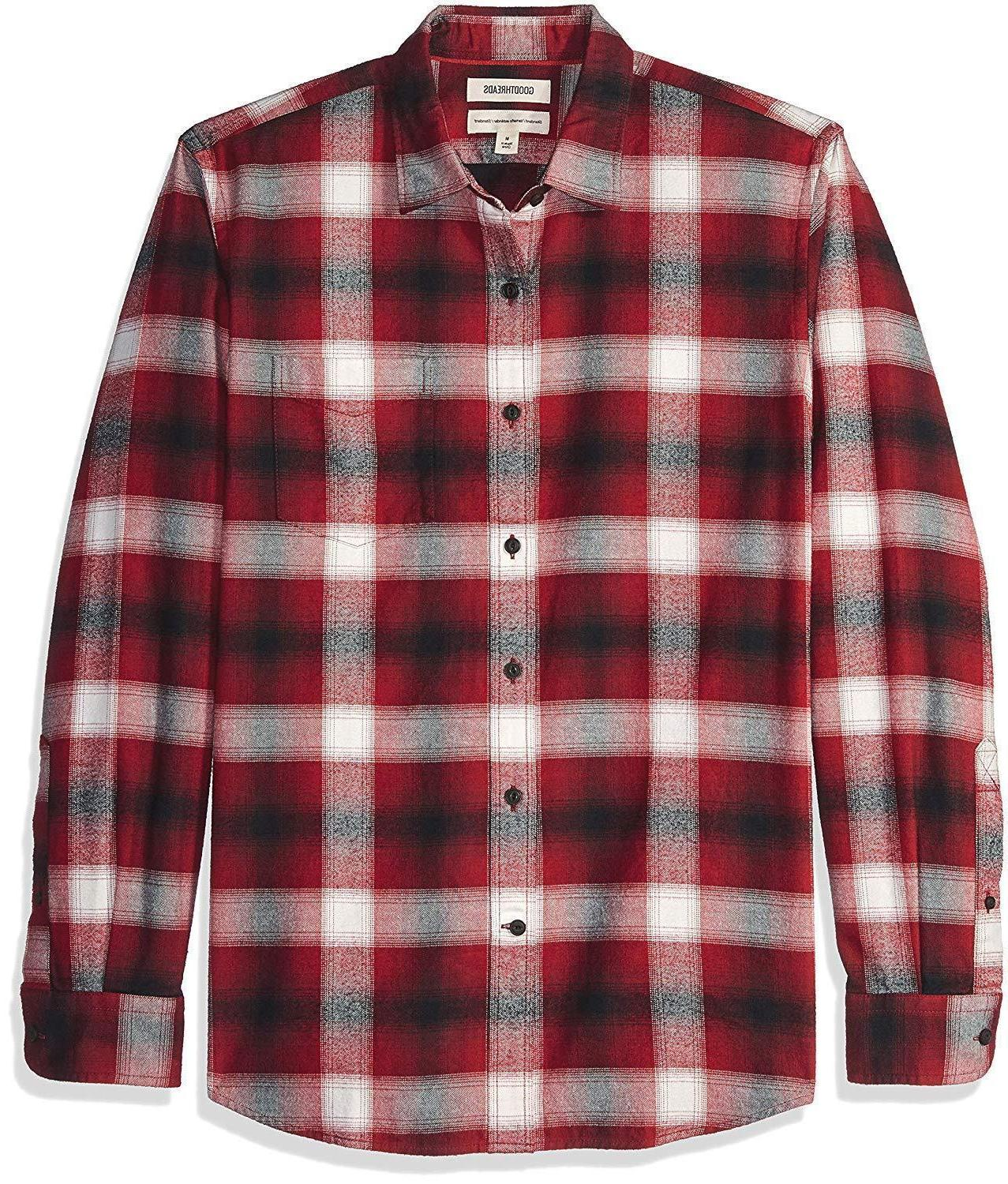 nwt men s long sleeve brushed flannel