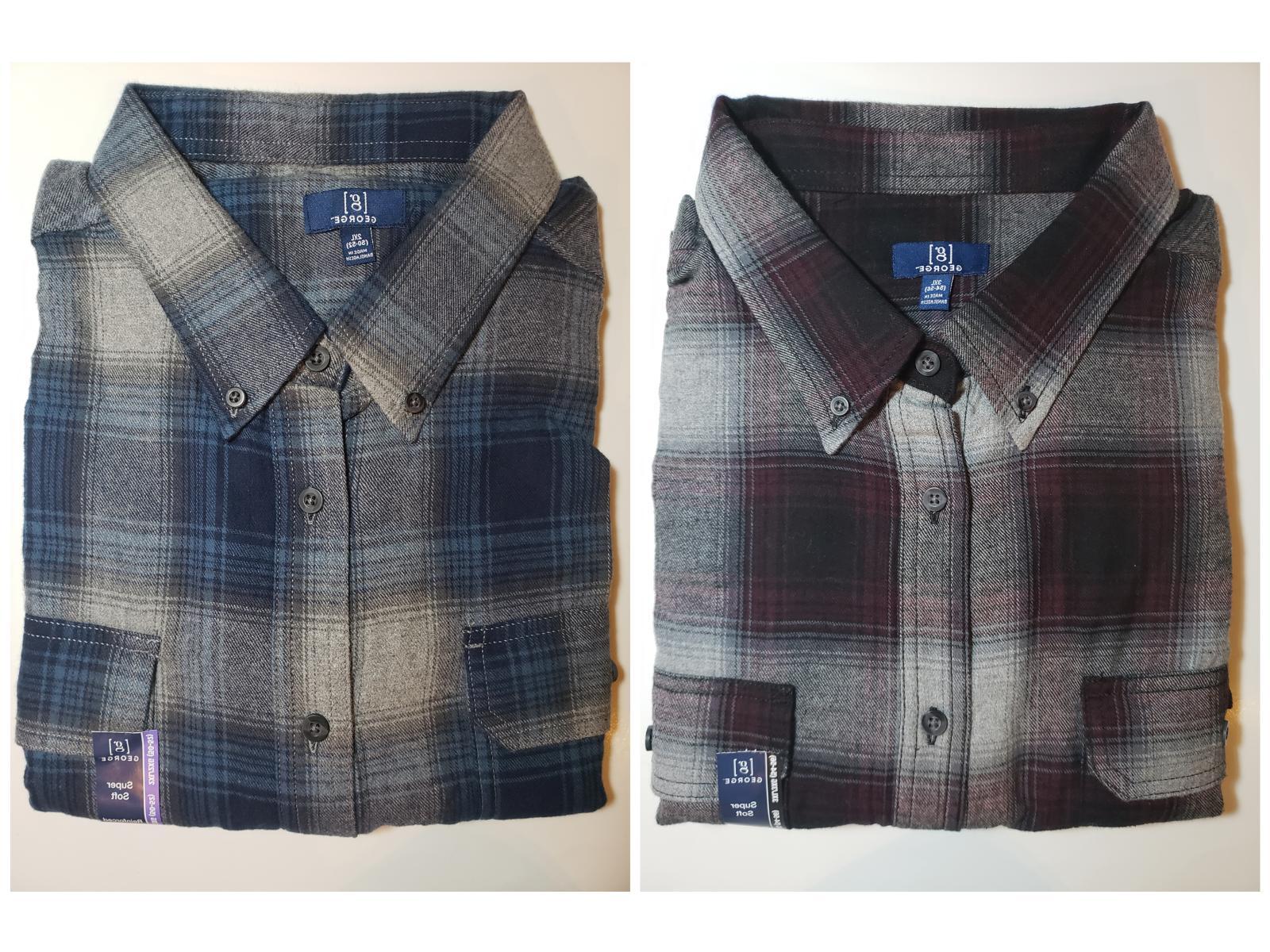 nwt men s plaid flannel shirt super