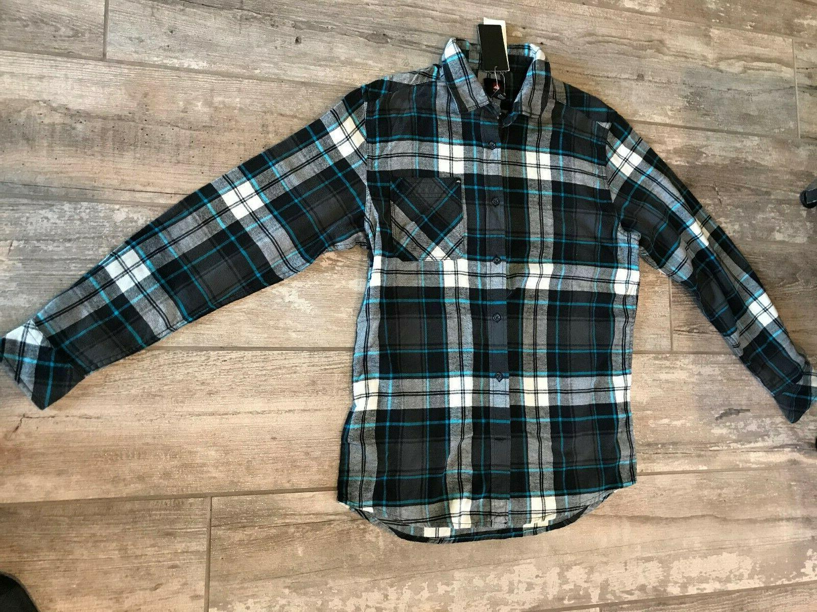 nwt men s quicksilver long sleeve flannel