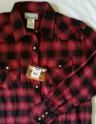 nwt men s wrancher l s red