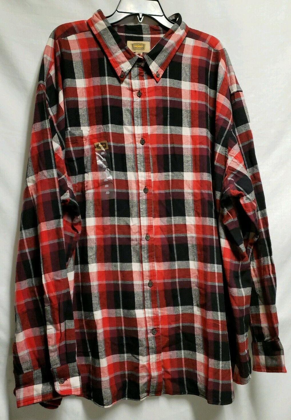 NWT & FLANNEL Size Red Black PLAID $40