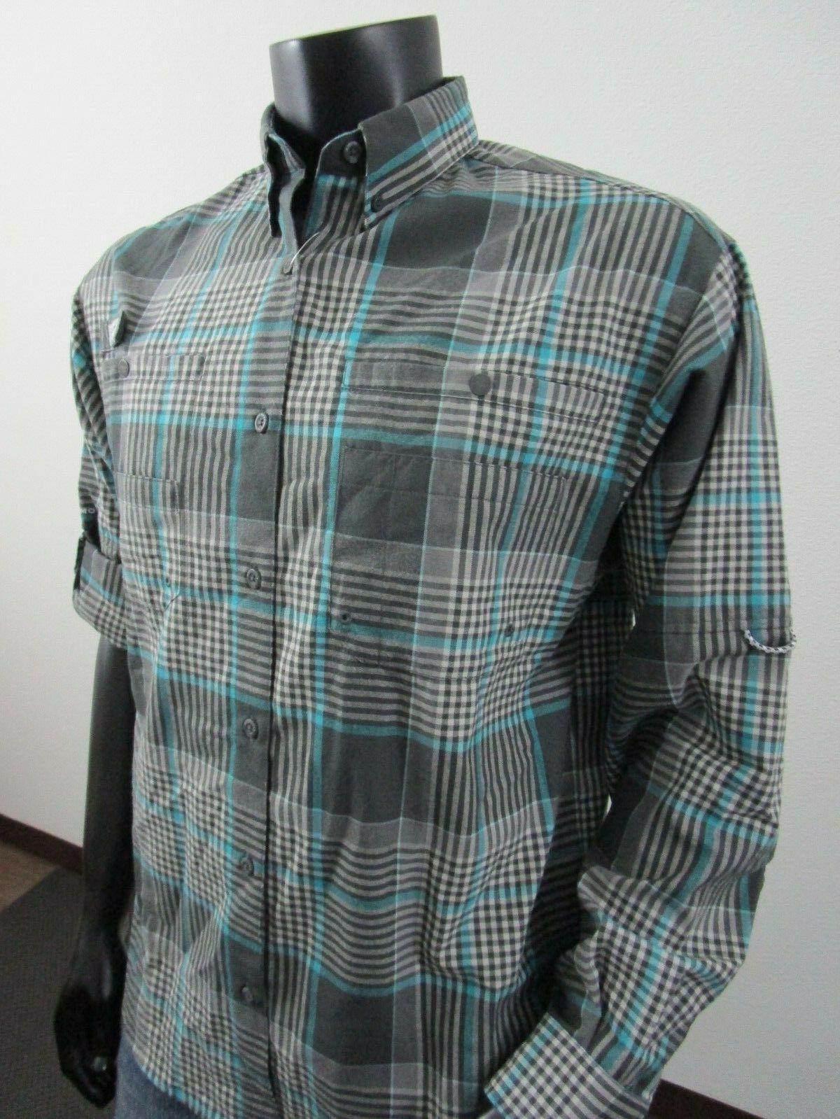 NWT M Columbia PFG Sleeve Shirt Grill
