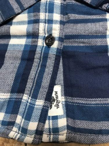 NWT Wrangler Sherpa Lined Flannel Shirt Jacket Blue M XXL