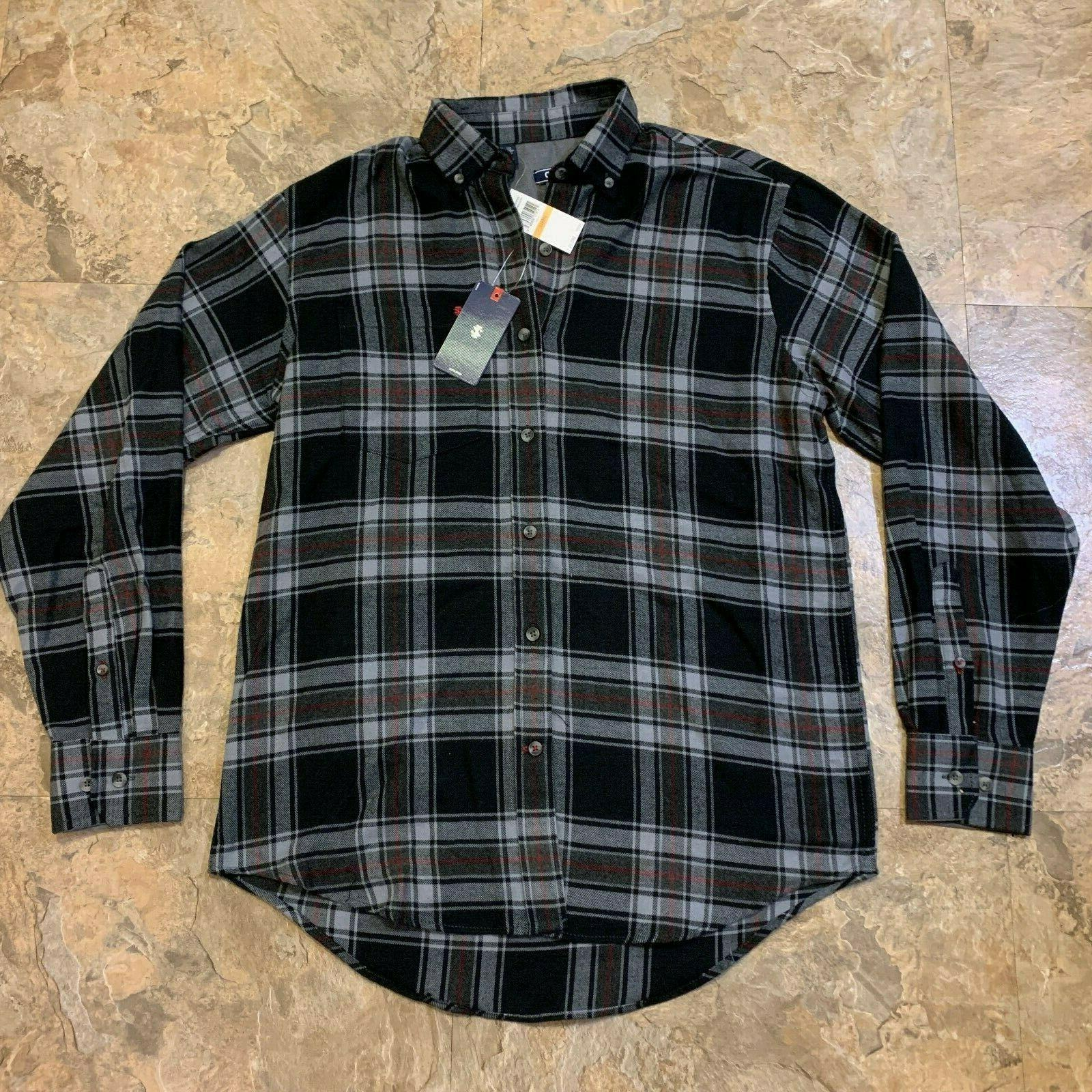 nwt mens size small flannel shirt long