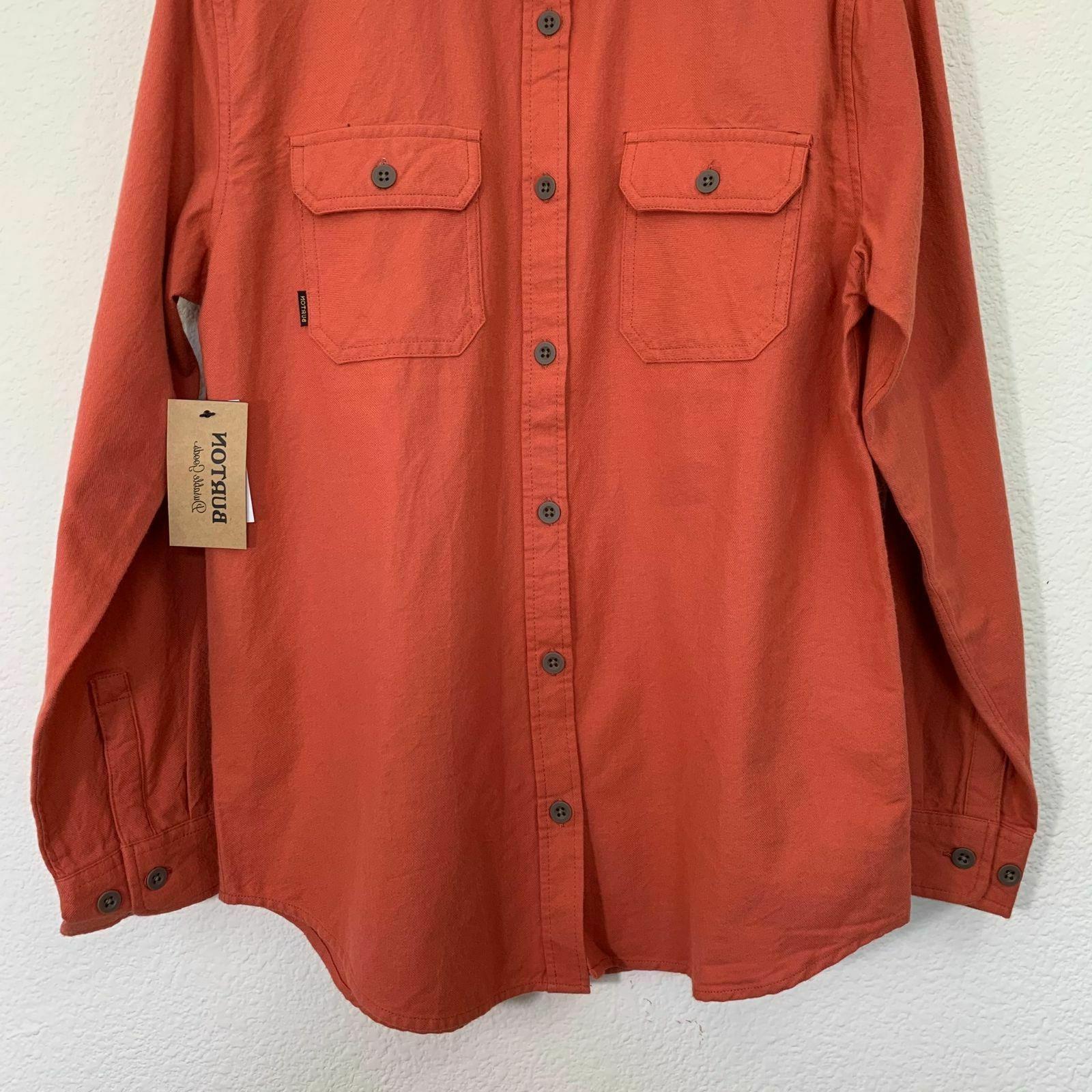 NWT Mens Small Brighton Button Long Shirt Sauce