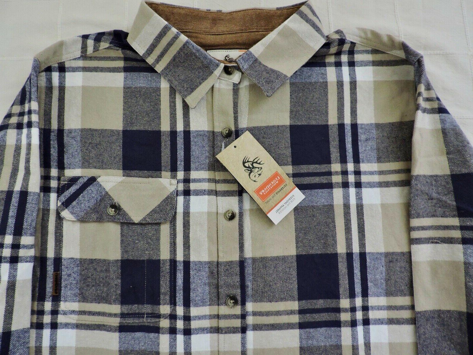 LEGENDARY WHITETAILS NWT Mens Sz Large Shale Buck Flannel Shirt
