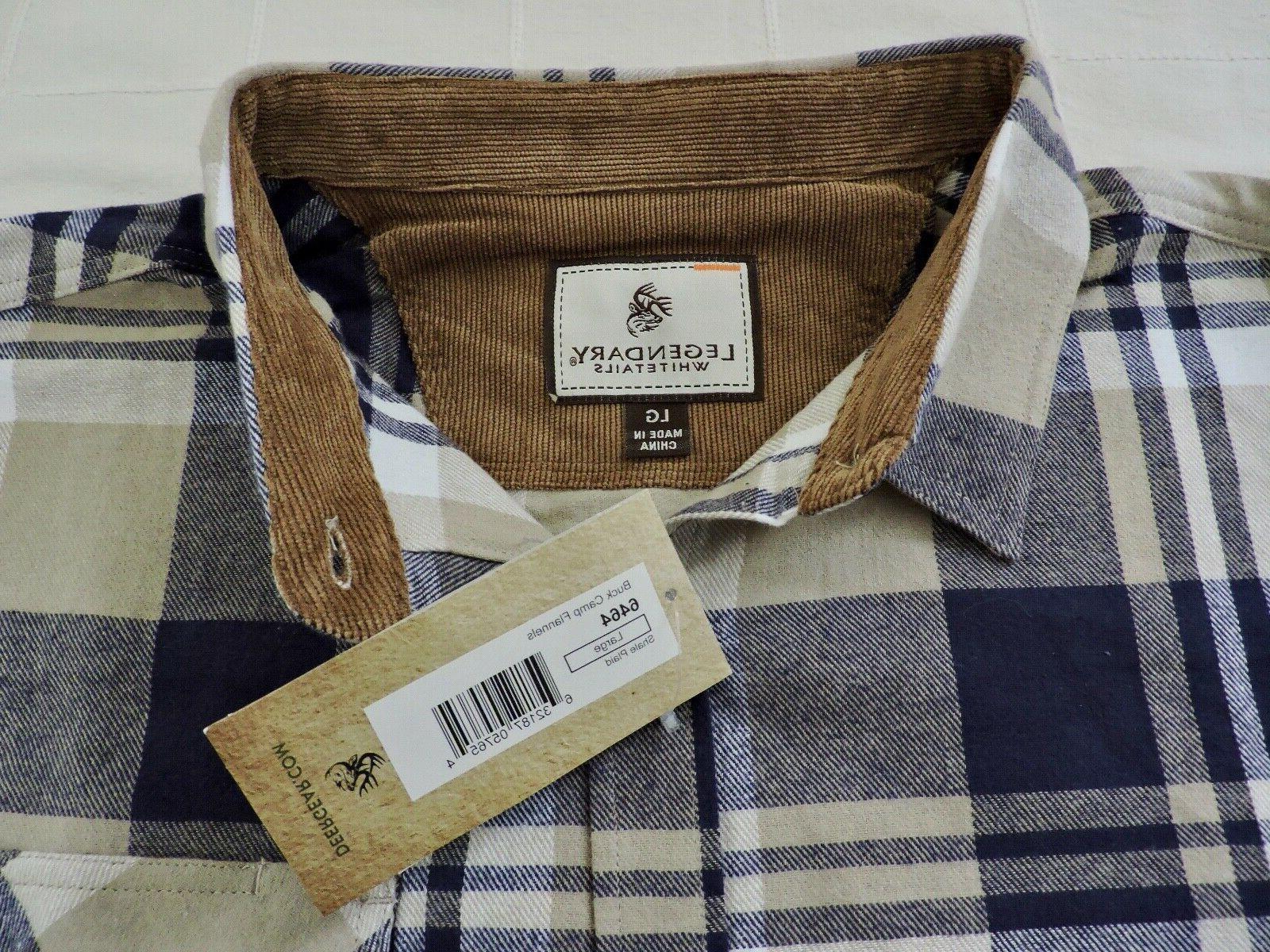 LEGENDARY WHITETAILS Sz Large Plaid Shirt