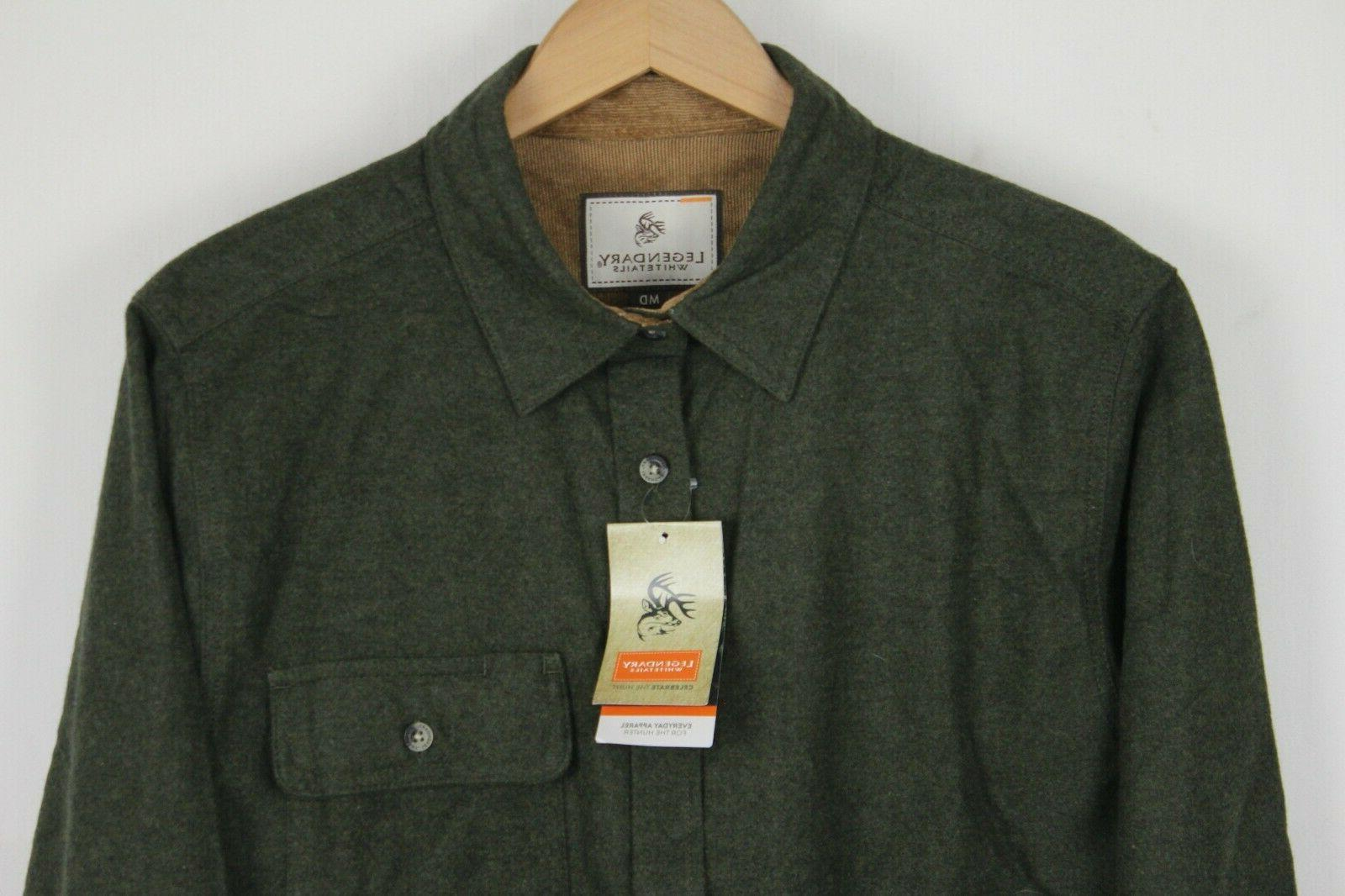 NWT Legendary Whitetails Mens Sz Medium Army Green Flannel