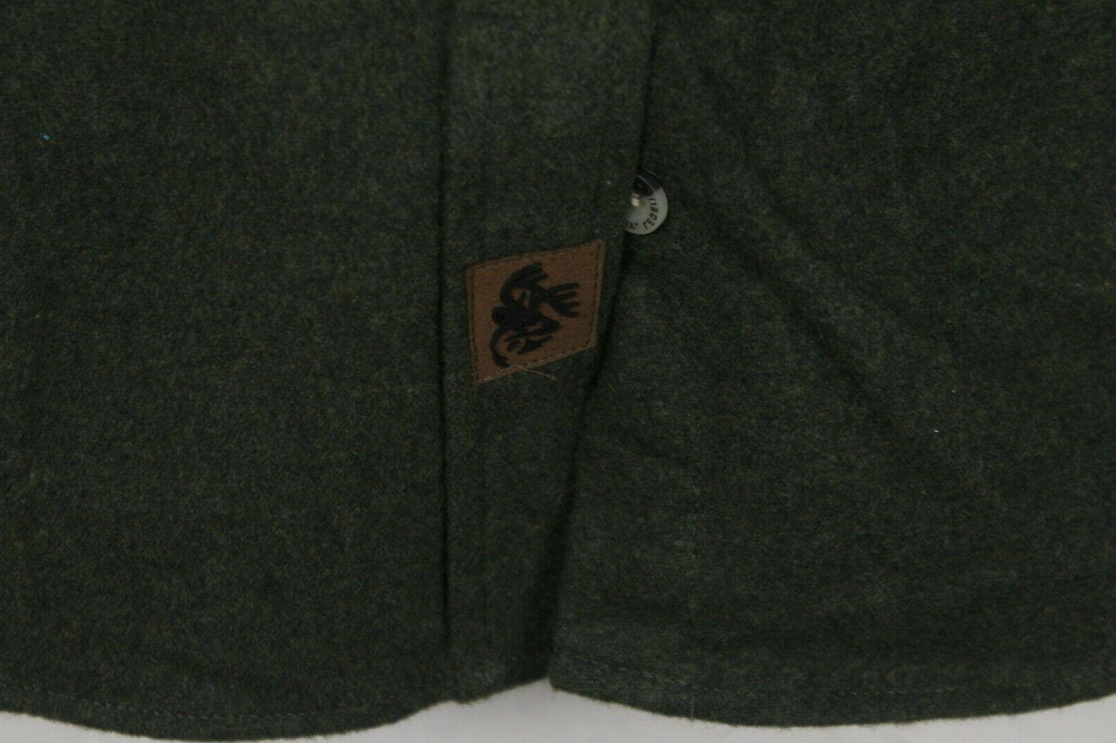 NWT Legendary Whitetails Sz Medium Buck Camp Army Green Shirt