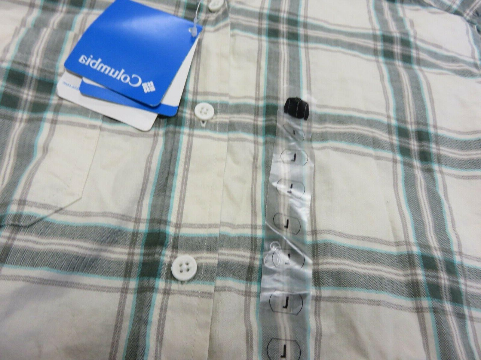 NWT Columbia Multi-Colored Flannel Shirt Men's Size Large