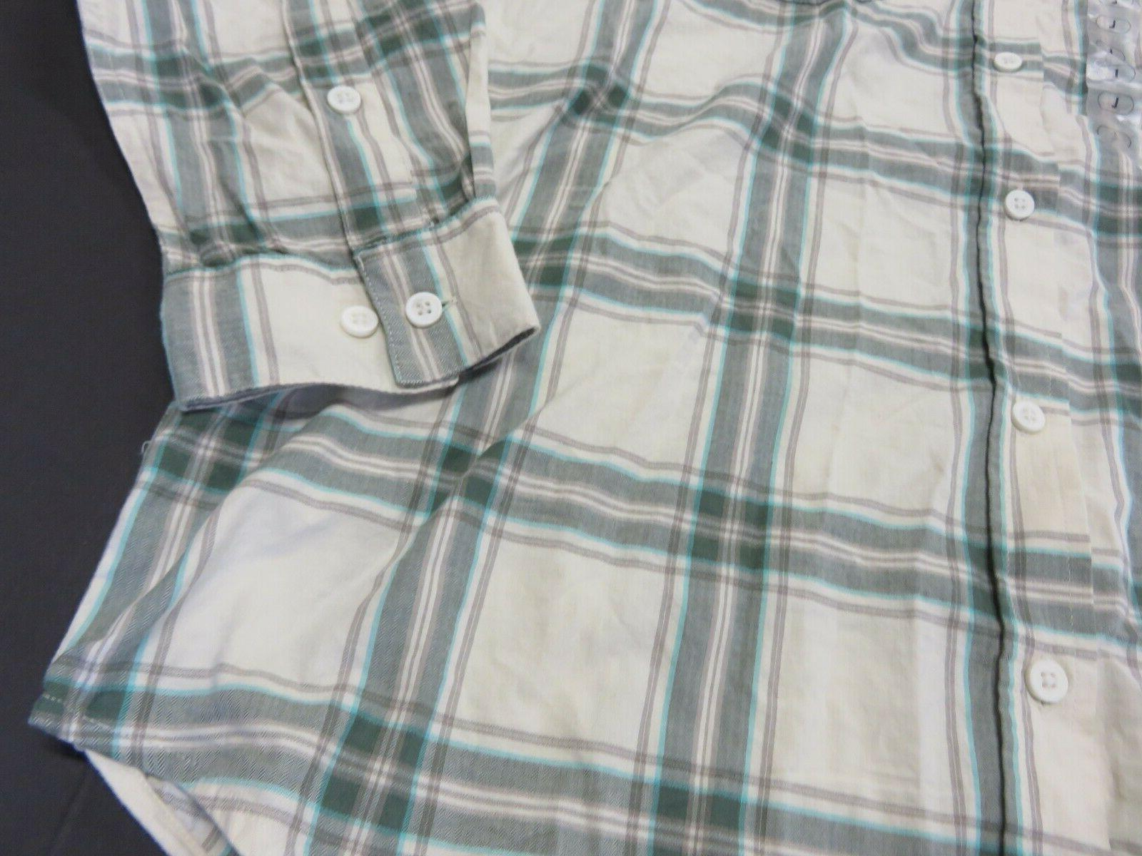 NWT Flannel Button Up Sleeve Shirt Men's