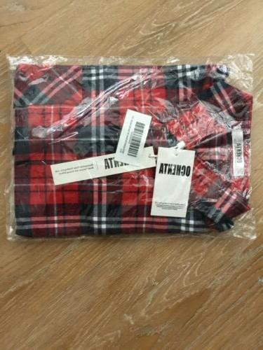 NWT: OCHENTA Men's Sleeve Red, US