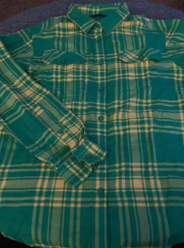 NWT Columbia Oregon Ducks Flannel Size XL Large Green/Yellow R2