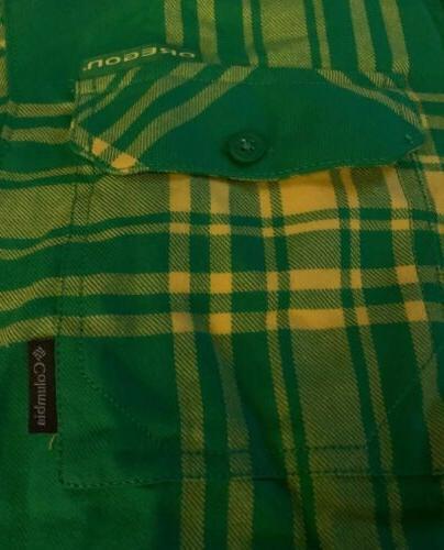 NWT Oregon Flannel Size XL Green/Yellow R2