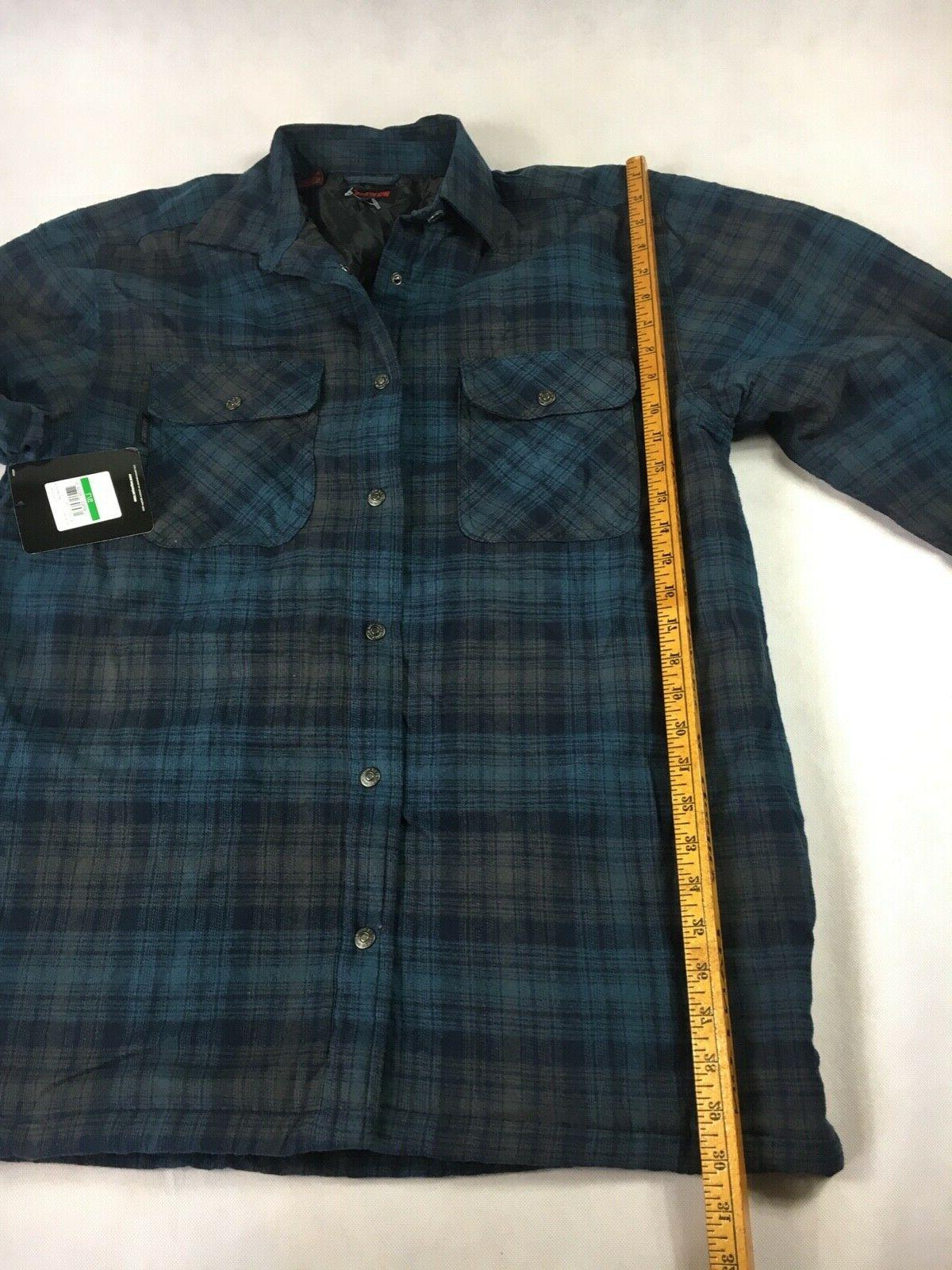 NWT Forester Blue Plaid Shirt - Large