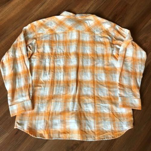 NWT Columbia University of Tennessee Flannel Shirt Size