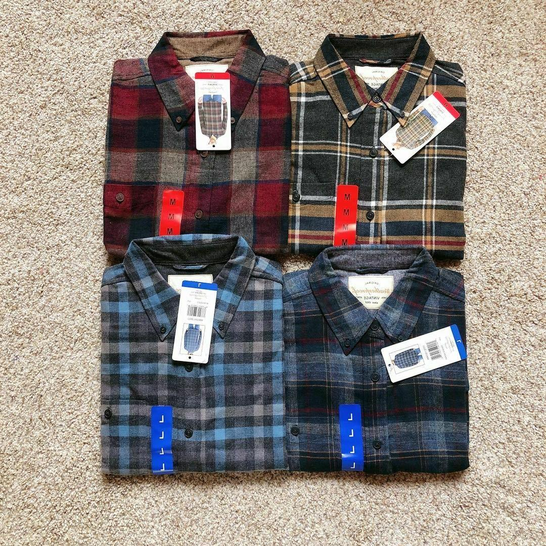 nwt vintage mens long sleeve flannel shirt