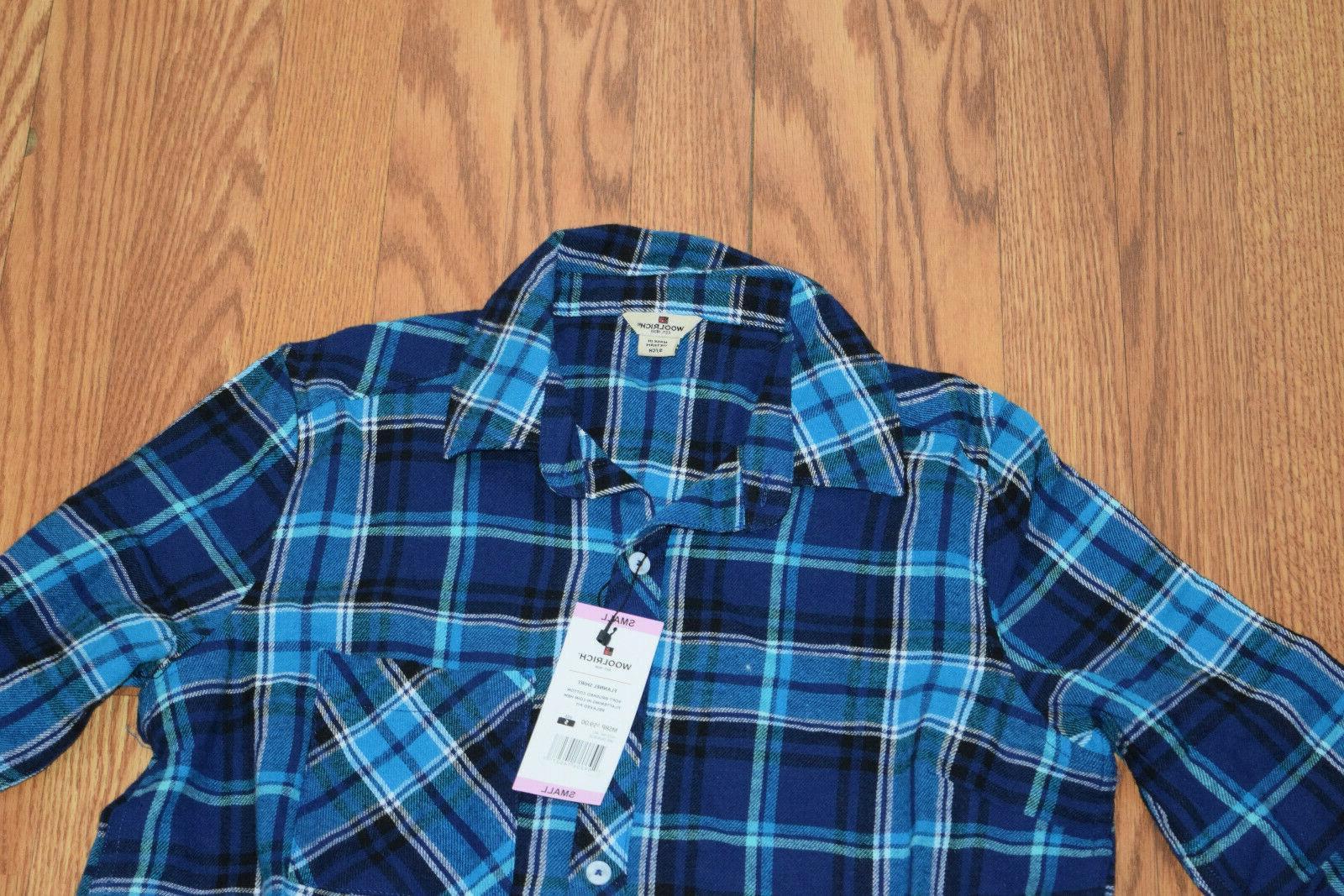 NWT Womens Blue Plaid Shirt