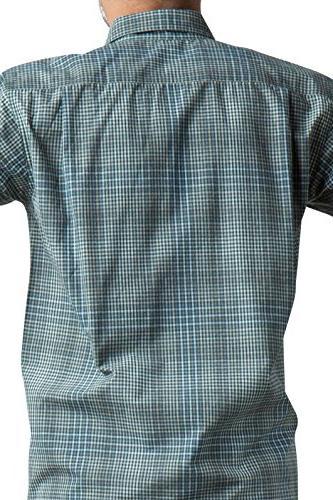 ExOfficio Men's Okanagan Mini Check Long Sleeve, Small