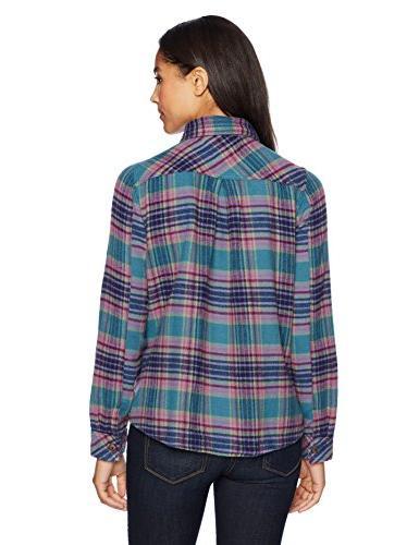 Woolrich Women's Bend Chunky Flannel Jac, Ocean L