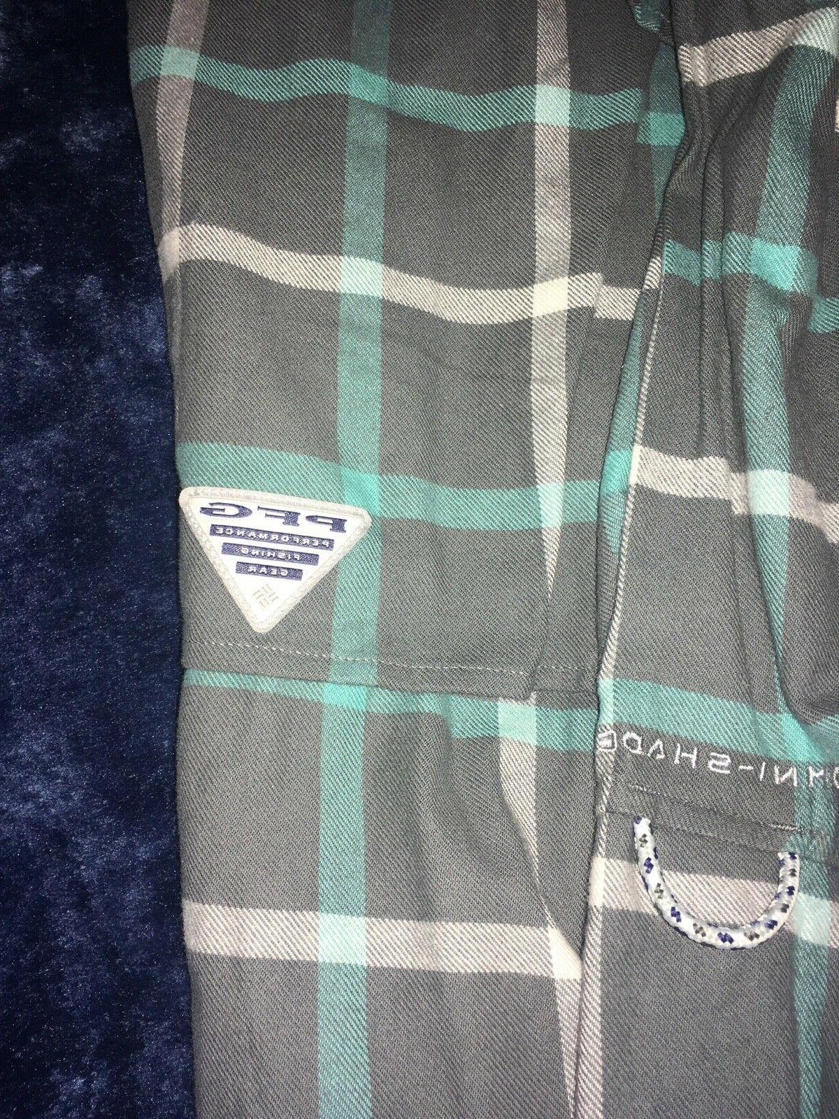 Columbia PFG Bonehead sleeved flannel medium