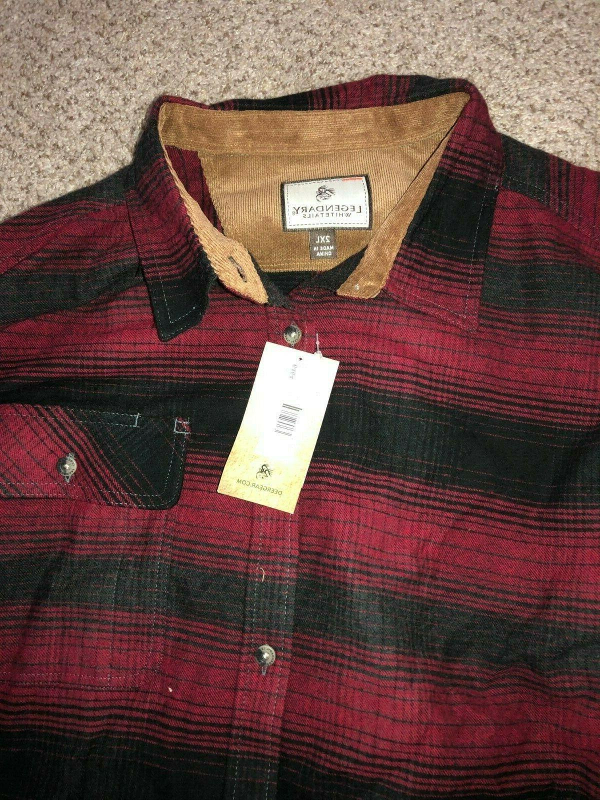 LEGENDARY WHITETAILS Plaid BUCK CAMP Flannel Shirt Men's