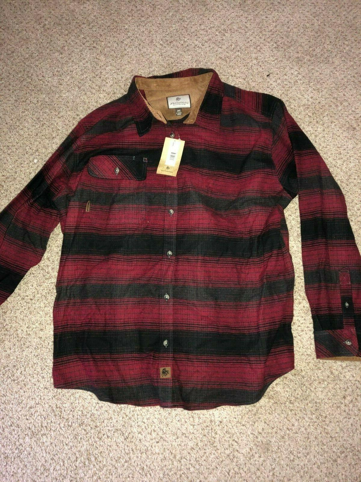 plaid buck camp flannel long sleeve shirt